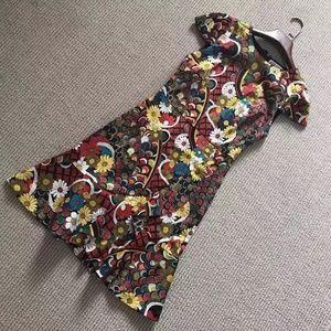 NWOT ALICE + OLIVIA Kirby Floral Print Dress